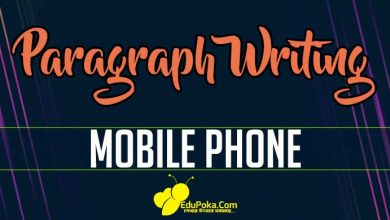 Photo of Mobile Phone Paragraph Writing