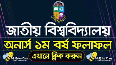 Photo of National University Honours 1st Year Result 2020