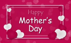 happy mothers day with hearts